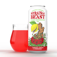 Strainge Beast Hard Kombucha Ginger Lemon 16oz