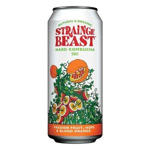 Strainge Beast Hard Kombucha Passion Fruit 16oz