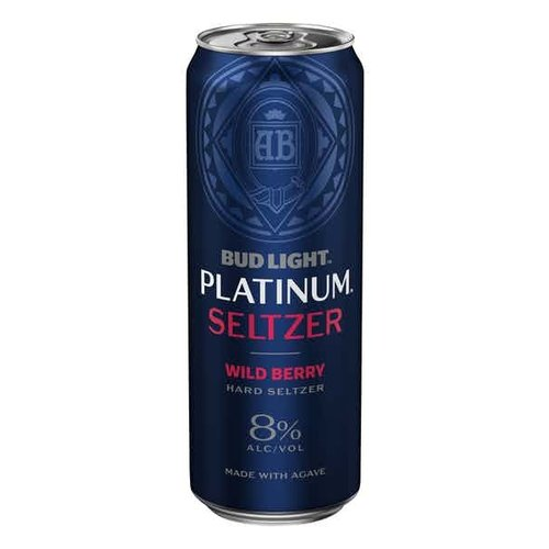 Bud Light Platinum Hard Seltzer Wild Berry 25oz