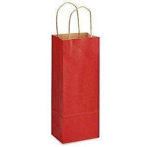 Kraft Red Single Bottle Bag