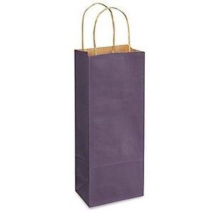 Kraft Purple Single Bottle Bag