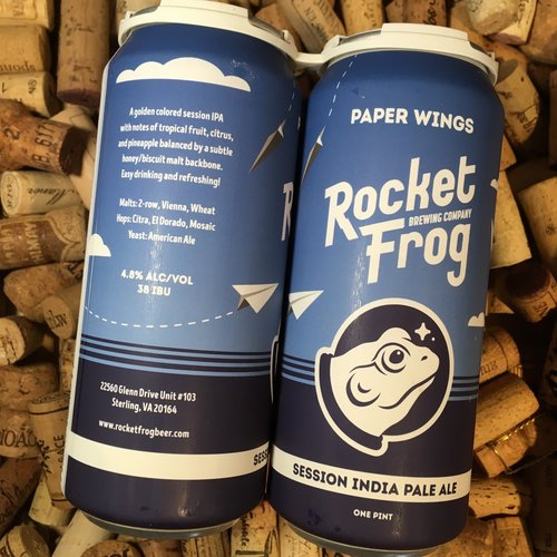 Rocket Frog Paper Wings Session IPA  4/16