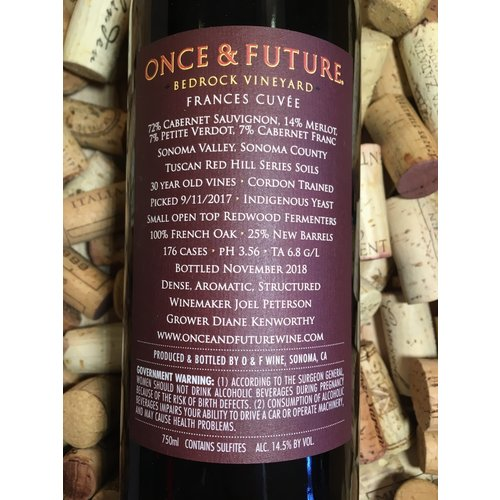 Once & Future Once & Future 2017 Bedrock Vineyard 'Frances Cuvee'
