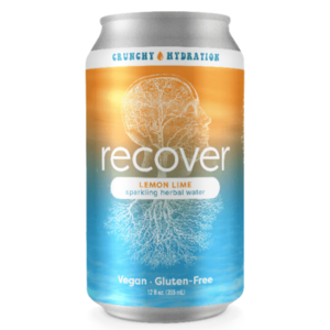 Recover Lemon Lime Sparkling Herbal Water 6/12