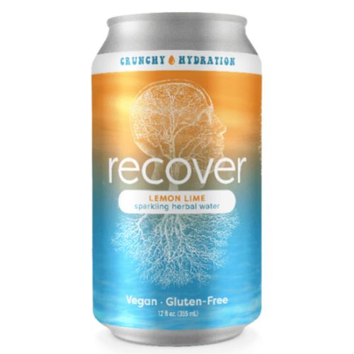 Crunchy Hydration Recover Lemon Lime Sparkling Herbal Water 6/12