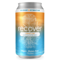 Crunchy Hydration Recover Lemon Lime Sparkling Herbal Water 12oz