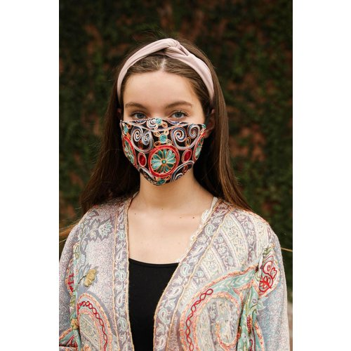 Leto Accessories Embroidered Mask