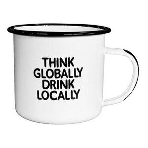 Damn Fine Enamel Mug - Drink Local