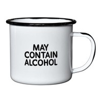 Damn Fine Enamel Mug - May Contain Alcohol