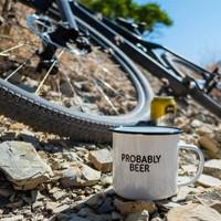 Damn Fine Enamel Mug - Probably Beer