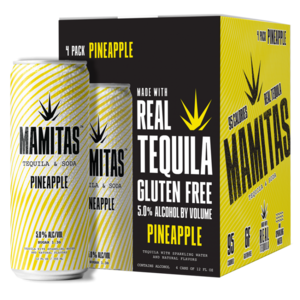 Mamitas Tequila & Soda Pineapple 4/12