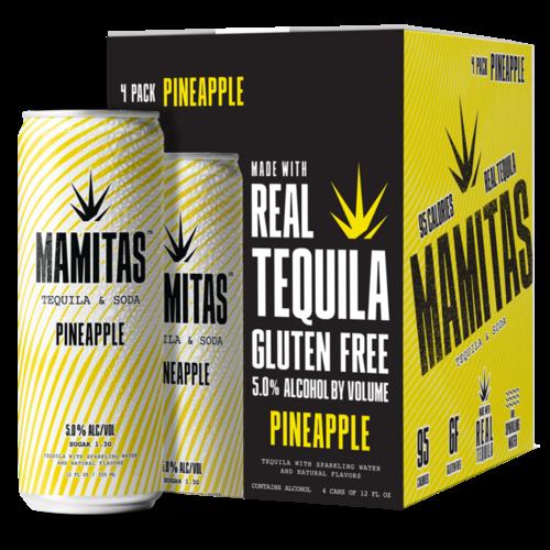 Mamitas Tequila & Soda Pineapple 4/12