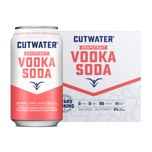 Cutwater Grapefruit Vodka Soda 4/12
