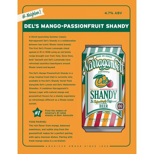 Narragansett Del's Mango-Passionfruit Shandy 6/16