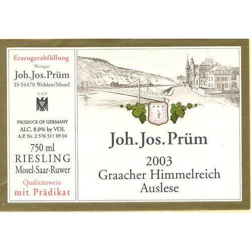 JJ Prum Riesling Graacher Himmelreich Auslese