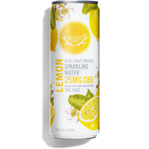Wyld CBD Lemon Sparkling Water 12oz