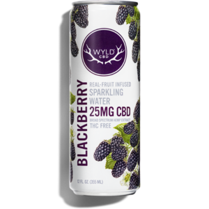 Wyld CBD Blackberry Sparkling Water 12oz