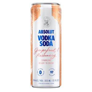 Absolut Vodka Soda Grapefruit & Rosemary 4/12