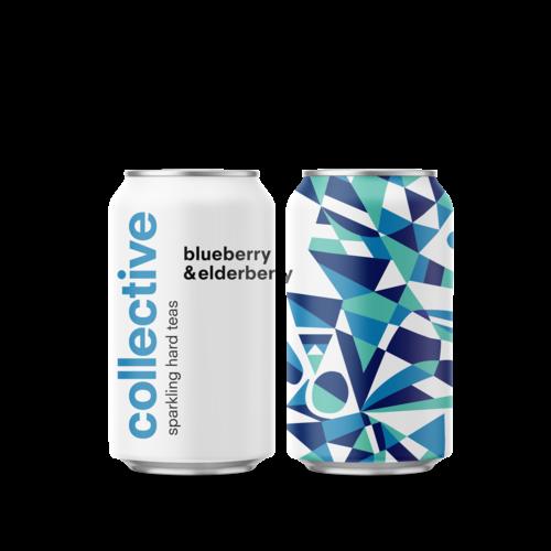 Collective Bluberry & Elderberry Sparkling Hard Tea 6/12