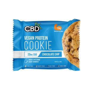 CBD FX Vegan Protein Chocolate Chip Cookie 20mg
