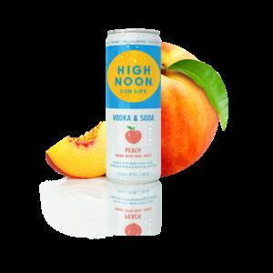 High Noon Peach Hard Seltzer 4/355