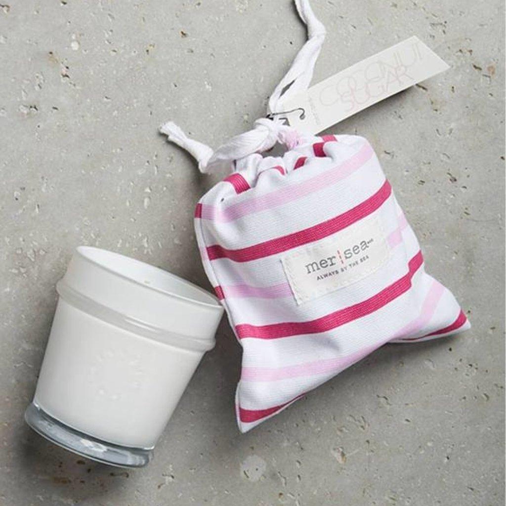 Coconut Sugar Striped Bag Candle