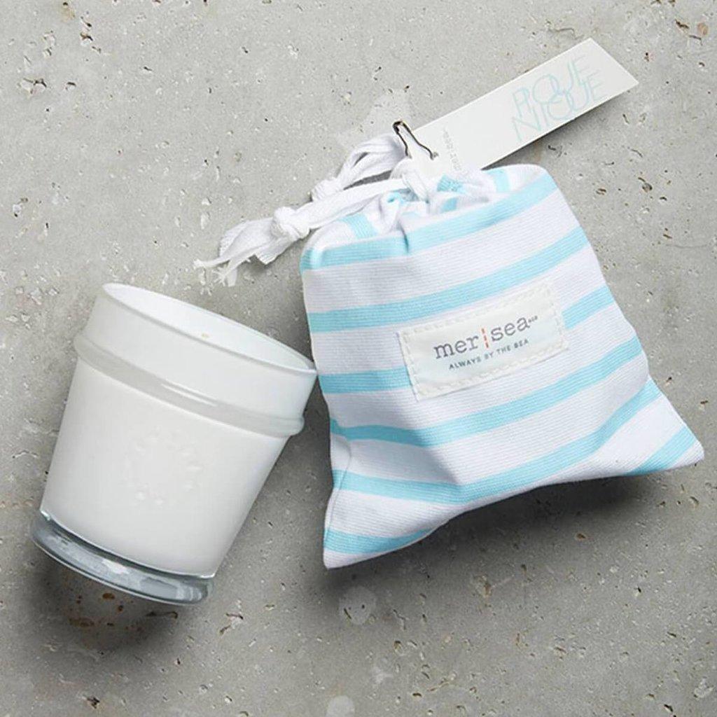 Pique Nique Striped Bag Candle