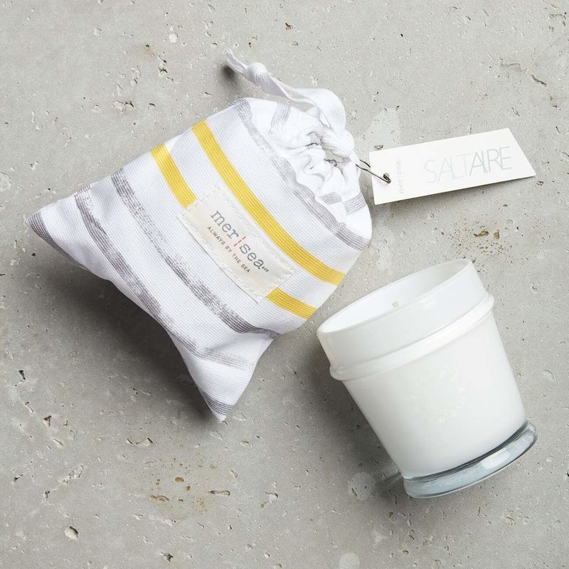 Saltaire Striped Bag Candle