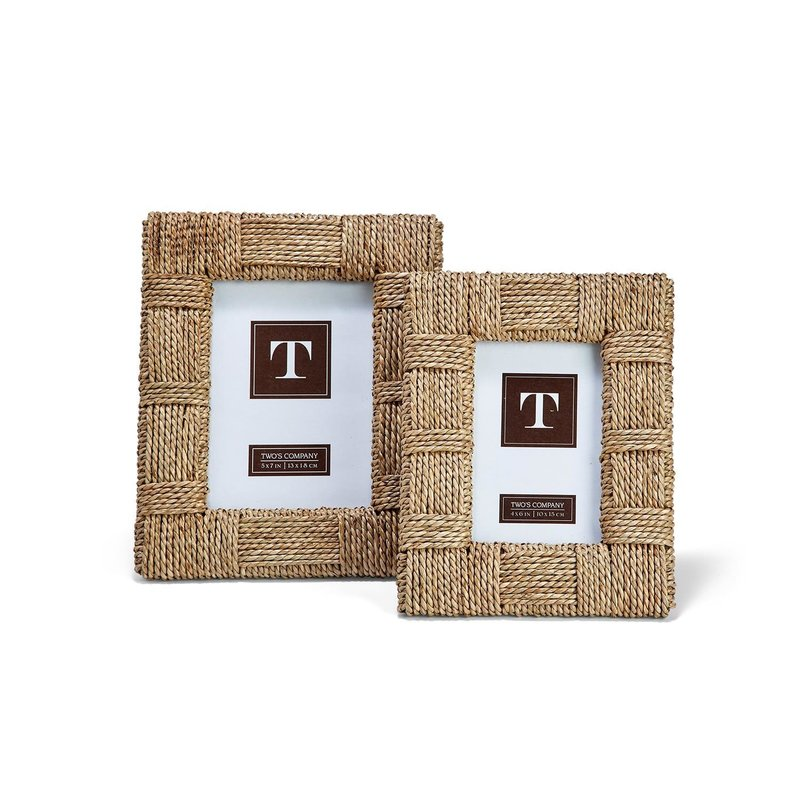 white Sea Grass Frame - 5x7