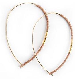 Norah Earrings - Matte Rose