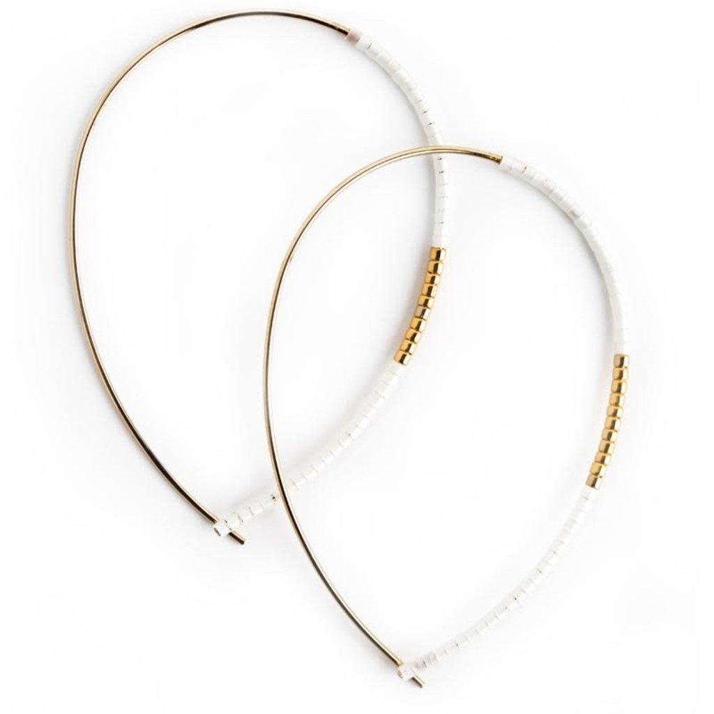 Norah Earrings - White Opal