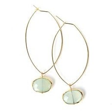 Lenny & Eva Ava Gem Earrings - Aqua Chalcedony