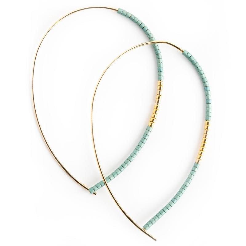 Norah Earrings - Matte Turquoise