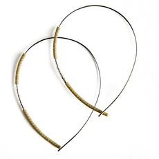 Norah Earrings - Silver - Matte Olive