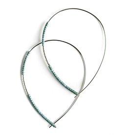 Norah Earrings - Silver - Matte Turquoise