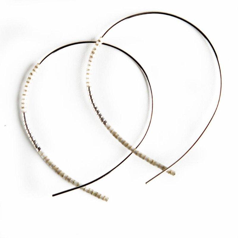 Norah Earrings - Silver - Smoky Quartz