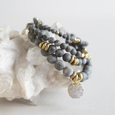 Labradorite Gemstone Stretch Bracelet - 8mm