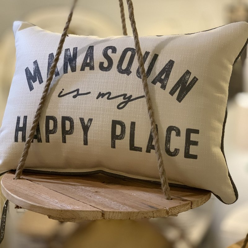 Manasquan is my happy place pillow