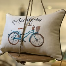Manasquan beach cruiser pillow