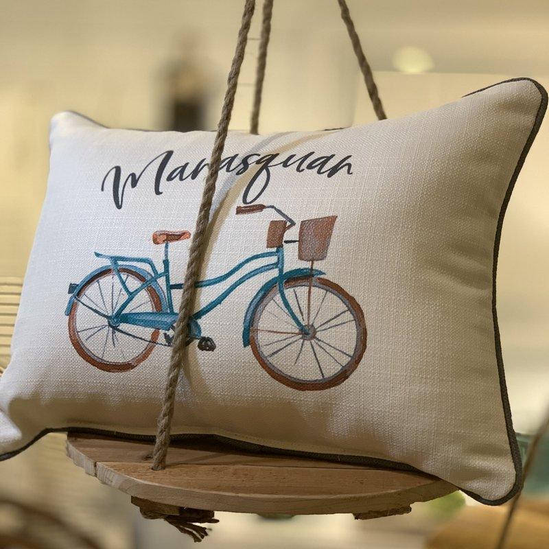 Manasquan beach cruiser pillow