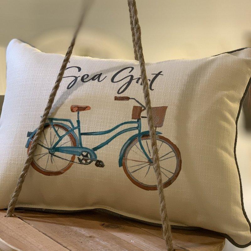 Sea Girt beach cruiser pillow