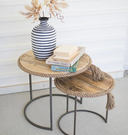Round Nesting Tables Rope Edge