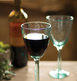 Recycled wine glasses - set of 6