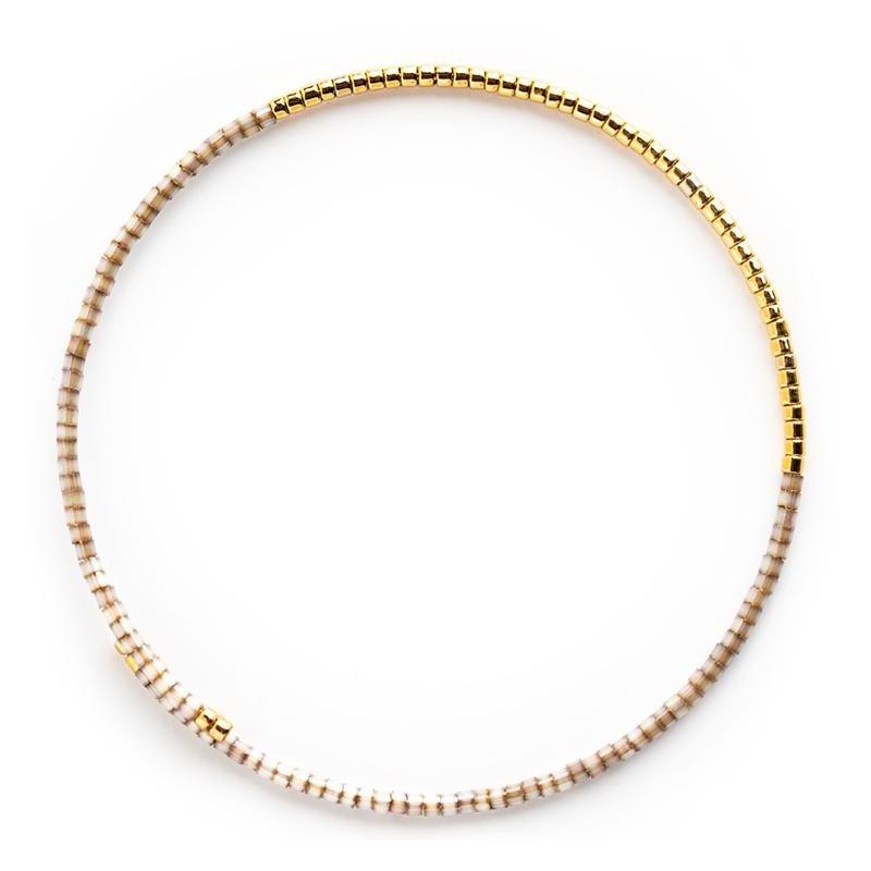 Norah Bangle Bracelets - Smoky Quartz
