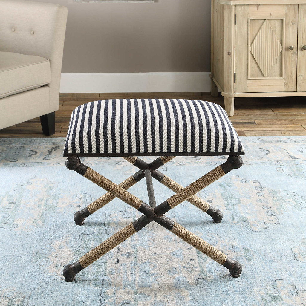 Striped Accent Bench
