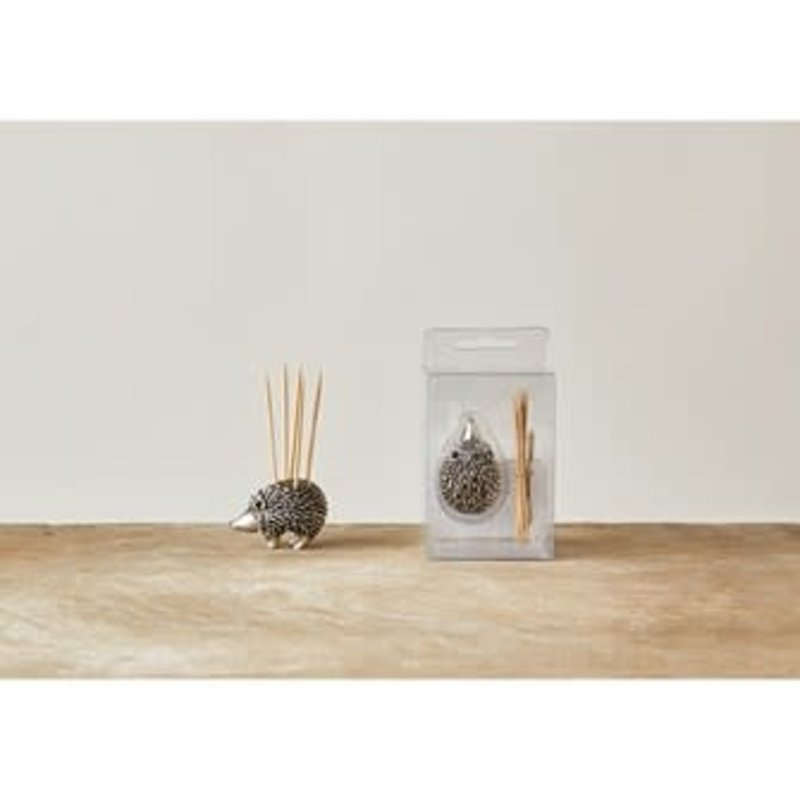 "The Garret 1"" Pewter Hedgehog Toothpick Holder"