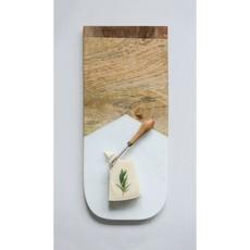Marble& Mango wood cutting board w/knife