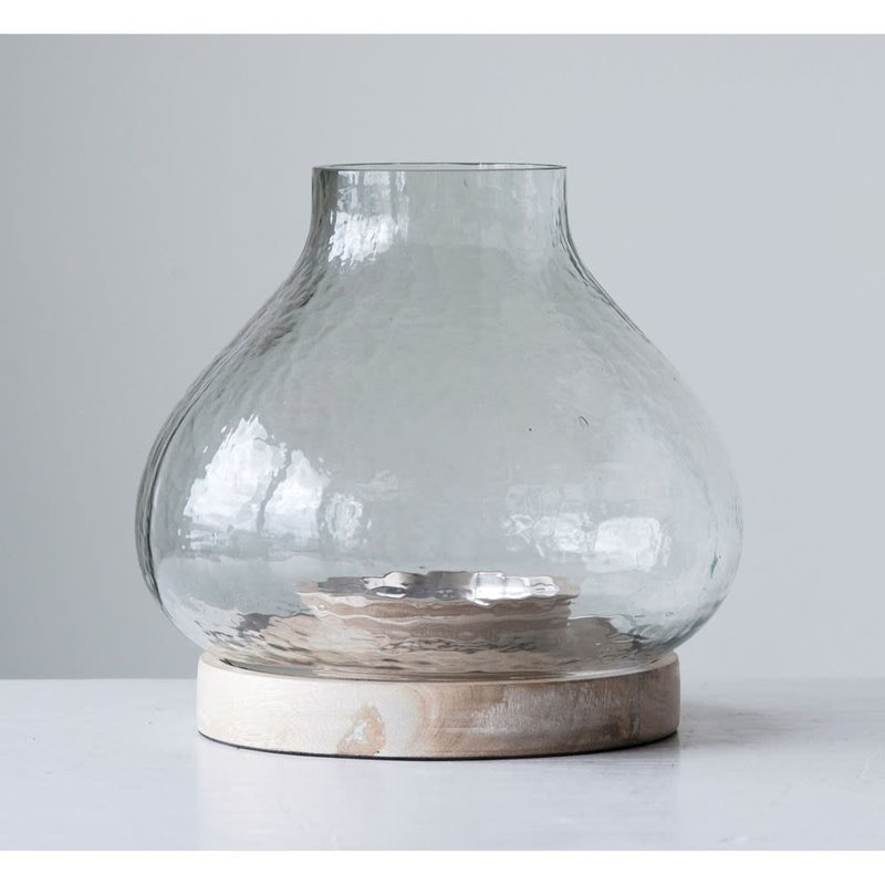 Glass & Mango Wood Candle