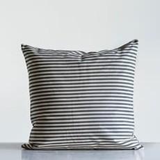 "Creative Co-op 24"" Cotton Striped Pillow"