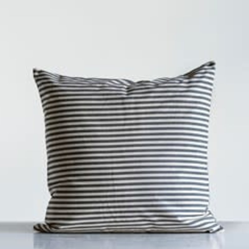"Creative Co-op 24"" Cotton Striped Pillow"